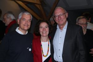 Die beiden Hauptverantwortlichen für die gelungene Organisation der Veranstaltung: Sara Hoffman-Cumani und Claudio Hoffmann-Cumani mit Franz Maget