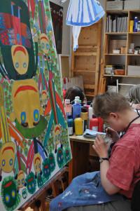 Künstler-Atelier in der Behindertenwerkstatt des HPCA Oberschleissheim